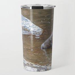 Smith Rock Otters, River, Travel Mug