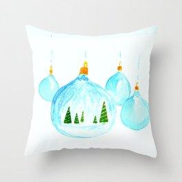 Snowglobe Ornament Throw Pillow