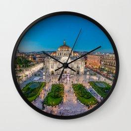 Bellas Artes 3 Wall Clock