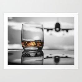 Airport on Ice Art Print