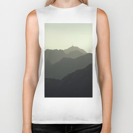 MOUNTAINS SILHOUETTE Biker Tank