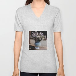 A bouquet with forget me not - PHOTO Unisex V-Neck