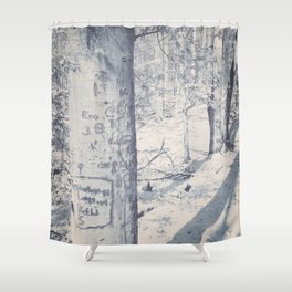 You Were Here Shower Curtain