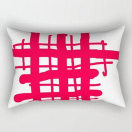 RED check Rectangular Pillow