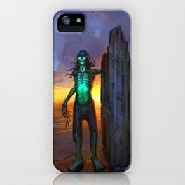 Toxic Surfer iPhone Case