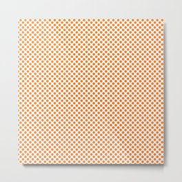 Orange Popsicle Polka Dots Metal Print