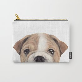 Bulldog Original painting Dog illustration original painting print Carry-All Pouch