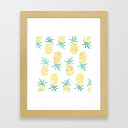 Pineapple Tropical Pina Colada  Framed Art Print