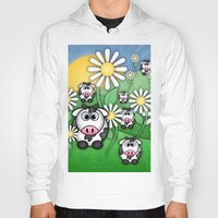 cows Hoodies featuring Cows & Daisies  by Digi Treats 2