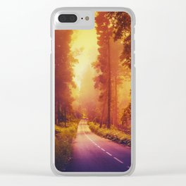 Enchanting road Clear iPhone Case