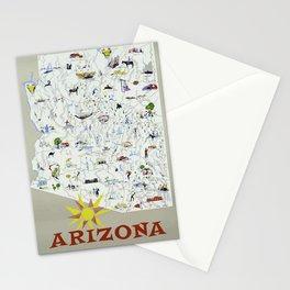 Vintage Travel Poster - Arizona Stationery Cards