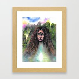Forest Fairy Framed Art Print