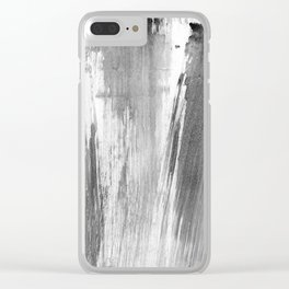 I feel grey today (happy) Clear iPhone Case