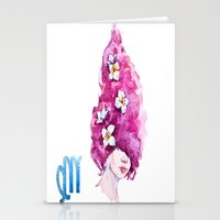 virgo Stationery Cards featuring Virgo by Aloke Design