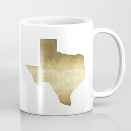 texas gold foil print state map Coffee Mug