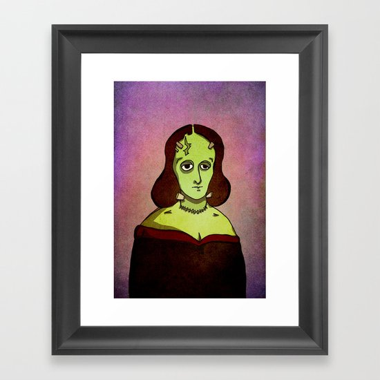 Prophets of Fiction - Mary Shelley /Frankenstein Framed Art Print