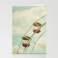 ferris wheel Stationery Cards featuring ferris wheel by Beverly LeFevre