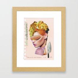 Die Kuchenfrau · hätt ich dich heut erwartet... Framed Art Print