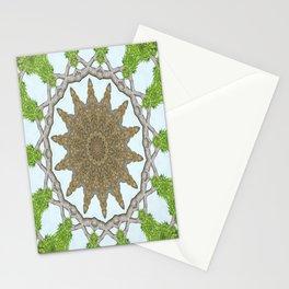 Bark Leaves Stone Kaleidoscope Art 2 Stationery Cards