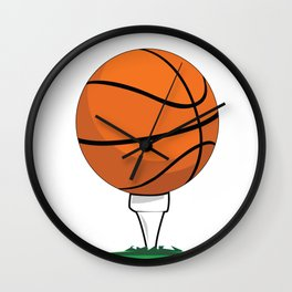Basketball Tee Wall Clock