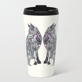 psychedelic fox Travel Mug