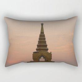 Golden hour at Golden Mount Rectangular Pillow