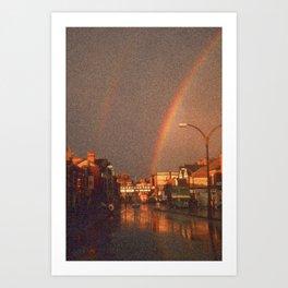 City Rainbow Art Print