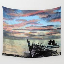 Akranes at Sunset, 2015 Wall Tapestry