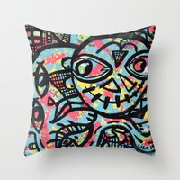 cheshire Throw Pillows featuring Cheshire by Lisa Brown Gallery