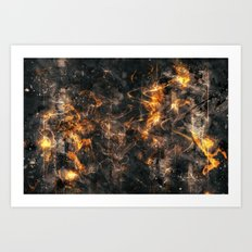 Burnt Art Print