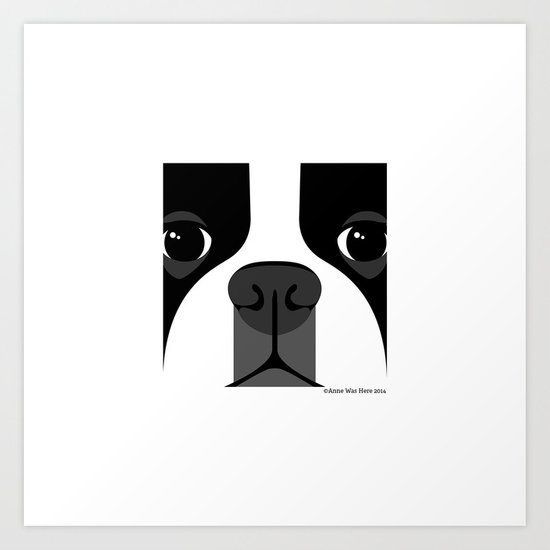 Boston Terrier Close Up Art Print