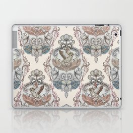 Woodland Birds - hand drawn vintage illustration pattern in neutral colors Laptop & iPad Skin