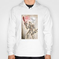 evil dead Hoodies featuring Ash from The Evil Dead by Joe Badon