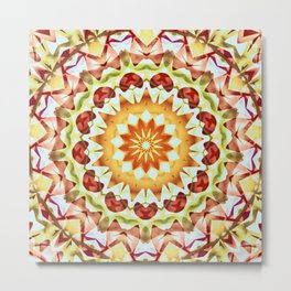 Summer Sun Kaleidoscope Metal Print