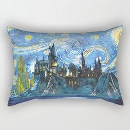 Starry Night in Hogwarts Castle - HP Rectangular Pillow