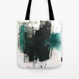 Empire: a minimal, abstract piece in teal and midnight blue by Alyssa Hamilton Art Tote Bag