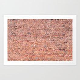 Plain Old Orange Red London Brick Wall Art Print