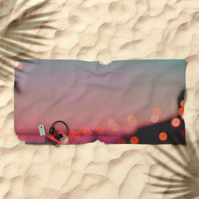 SUNSET ABSTRACT Beach Towel