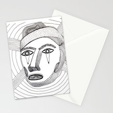Crying Face Stationery Cards