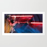 sith Art Prints featuring sith queen by rnlaing