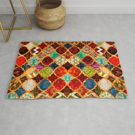 -A32- Epic Colored Traditional Moroccan Artwork. Rug