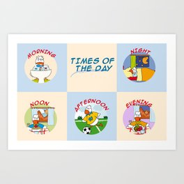 Times of the day Art Print