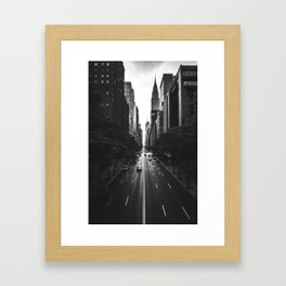New York City (Black and White) Framed Art Print