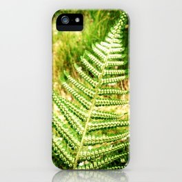 Green Fern iPhone Case