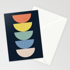 Abstract Flower Palettes Stationery Cards