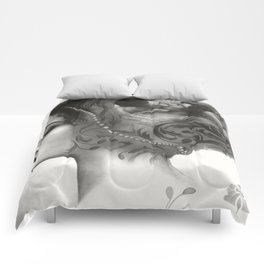Requiro - pencil drawing Comforters