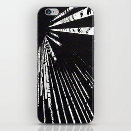 "Linocut fine art original print - black and white - ""Lost IV"" - abstract art iPhone Skin"