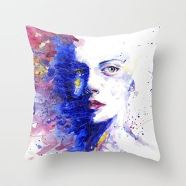 Colourful painting of women Throw Pillow
