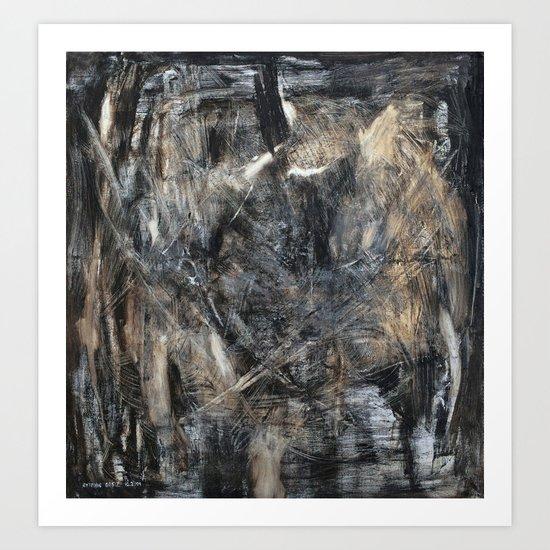 Schooling de Kooning Art Print