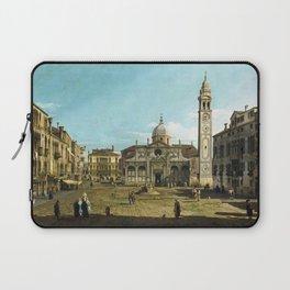 Bernardo Bellotto - Painting of the Church of Santa Maria Formosa, Venice Laptop Sleeve